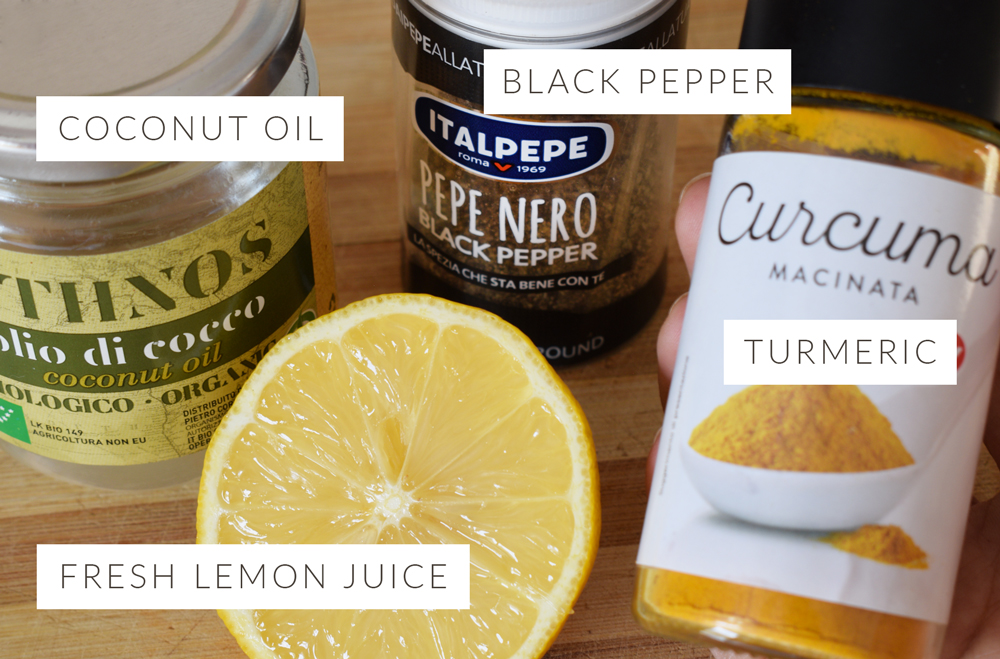 Morning Lemon Turmeric Drink Ingredients